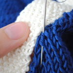 Sewing Knitting Together with Backstitch