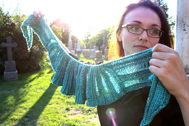 shawl and cemetary