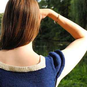 knitting patterns sailor blouse back
