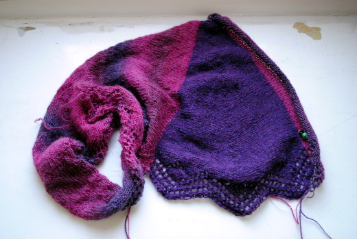 Elinor Shawlette Progress 7