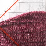 How to knit horizontal bust darts
