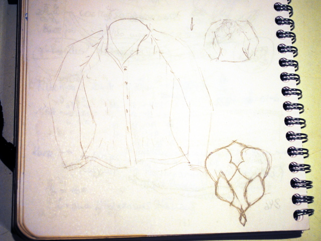 sketch for arabesque cardigan